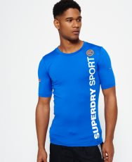 Mens - Sports Athletic T-shirt in Cobalt | Superdry